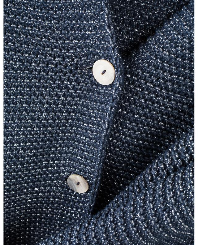 Cardigan scintillant en coton mélangé GRAN SASSO