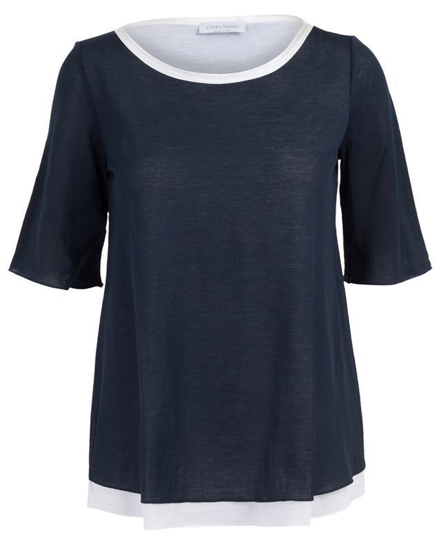 Cotton blend fine T-shirt GRAN SASSO