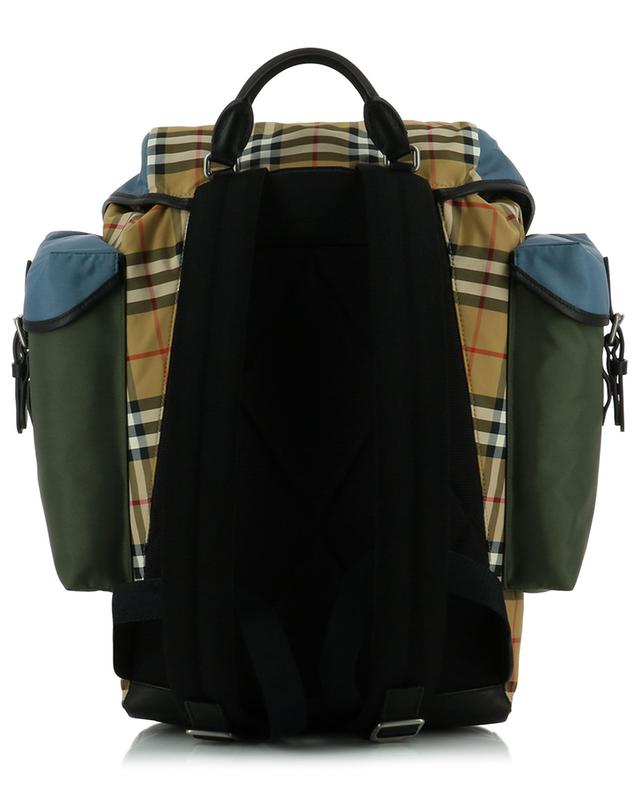 Leather and fabric backpack BURBERRY