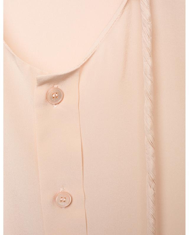 Chemise en soie à col rond avec cordon CHLOE