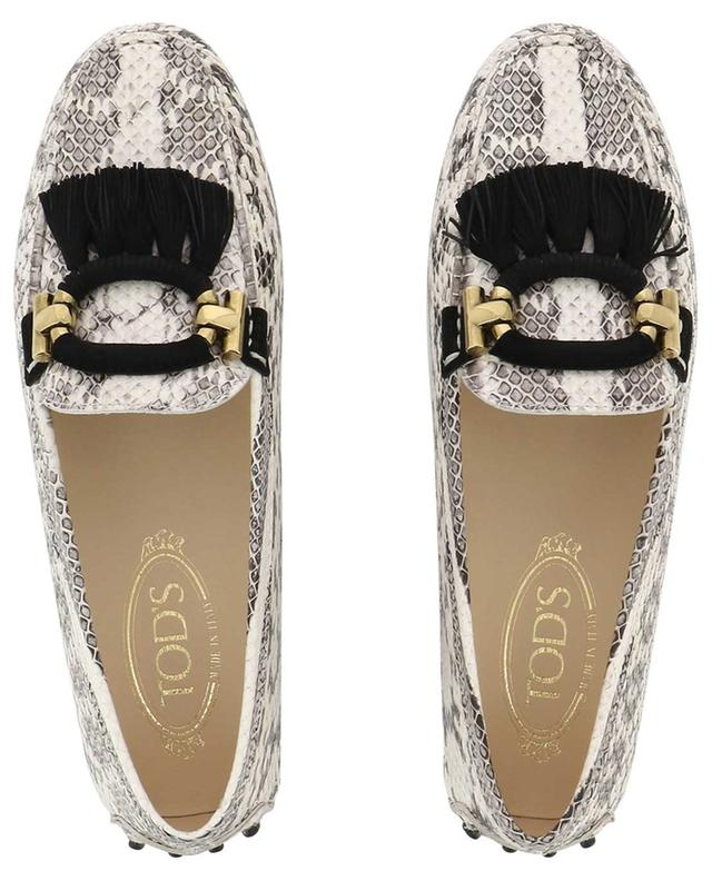 Gommino snakeskin effect leather loafers TOD'S