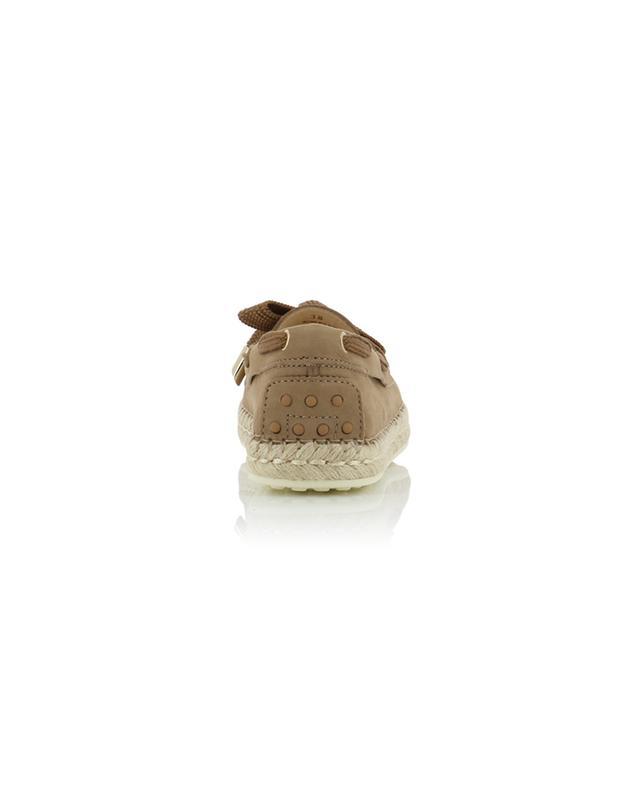 Mokassins aus Nubukleder mit Hanfsohlen TOD'S