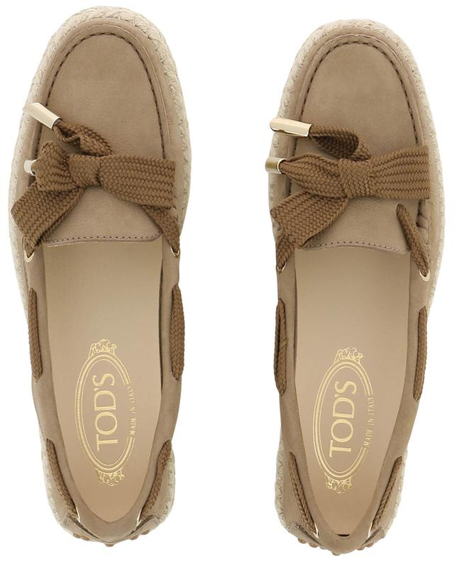 Nubuck loafers wtih rope sole TOD'S