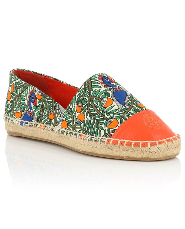Espadrilles mit Something Wild-Print Color Block TORY BURCH