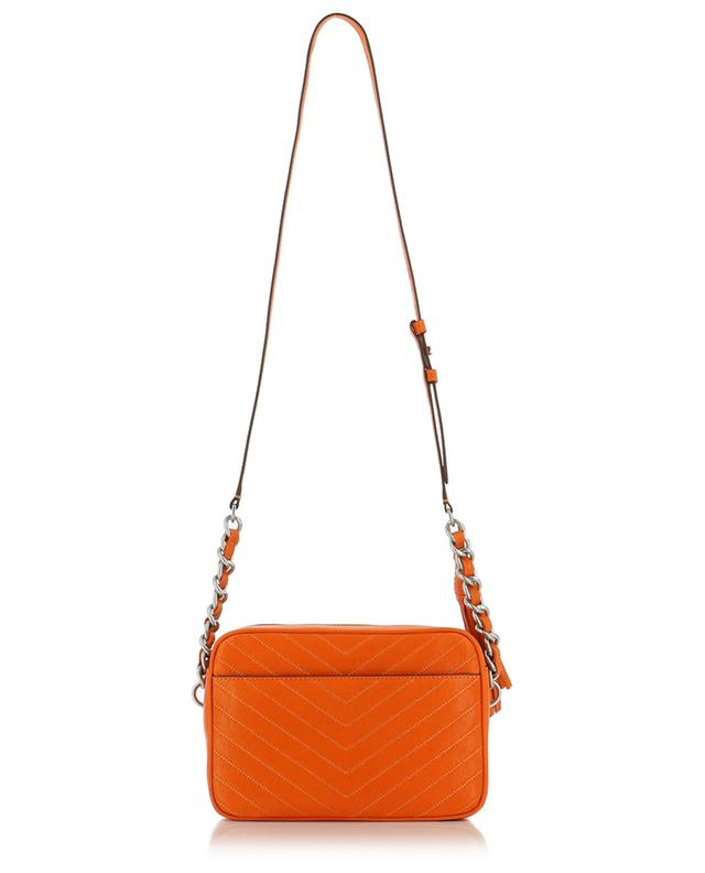 Fleming Distresses Camera quilted leather bag TORY BURCH