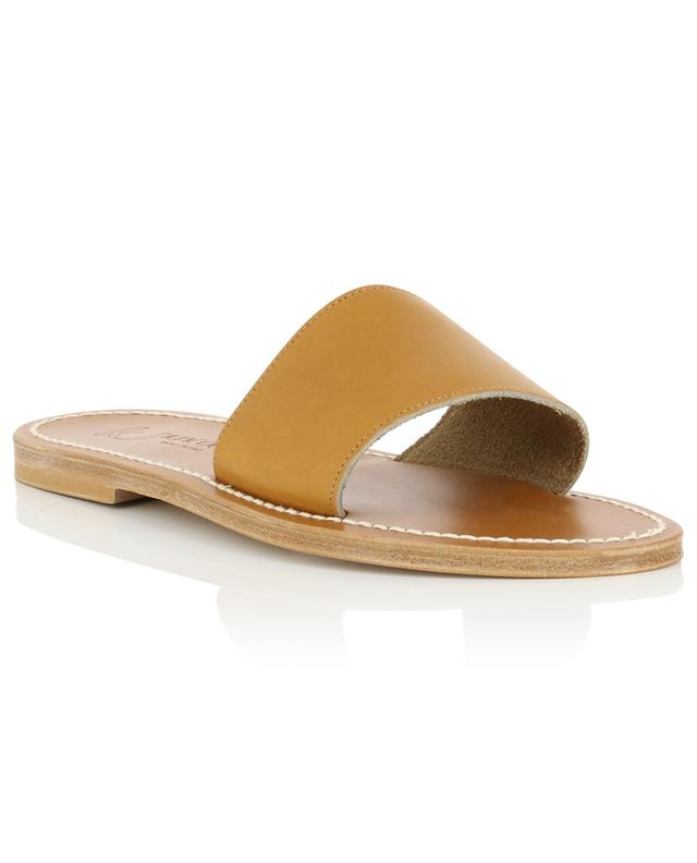 Anacapri leather flat sandals K JACQUES