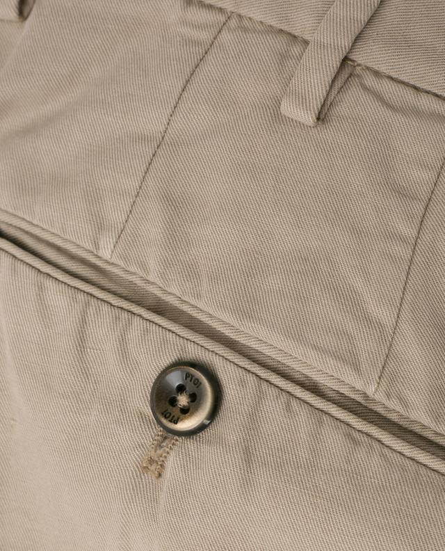 Pantalon en lyocell, lin et coton Gentleman Fit PT01