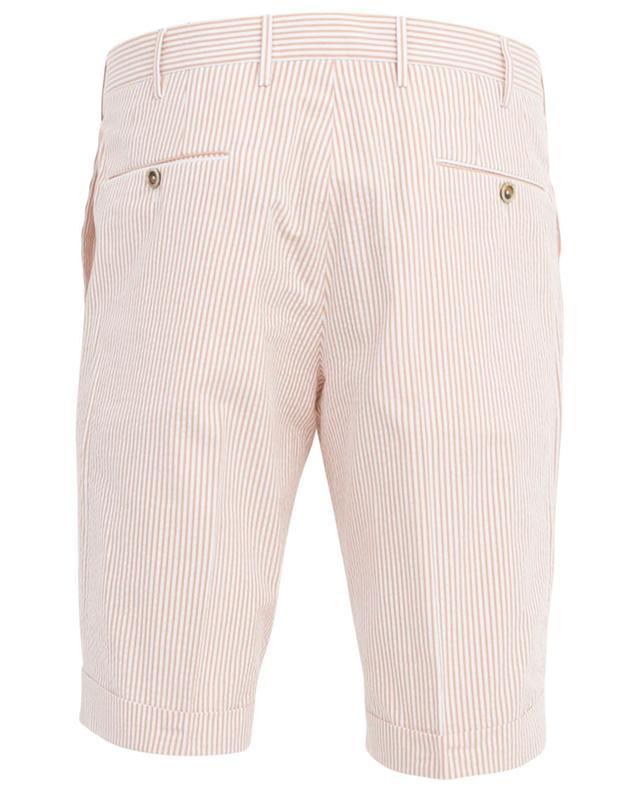 Striped seersucker Bermuda shorts PT01