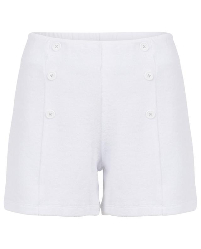 Short taille haute en coton éponge BLUE LEMON
