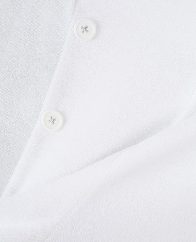 High waist terry cloth shorts BLUE LEMON