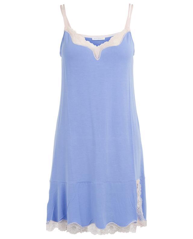 Modal lace adorned nighty BLUE LEMON