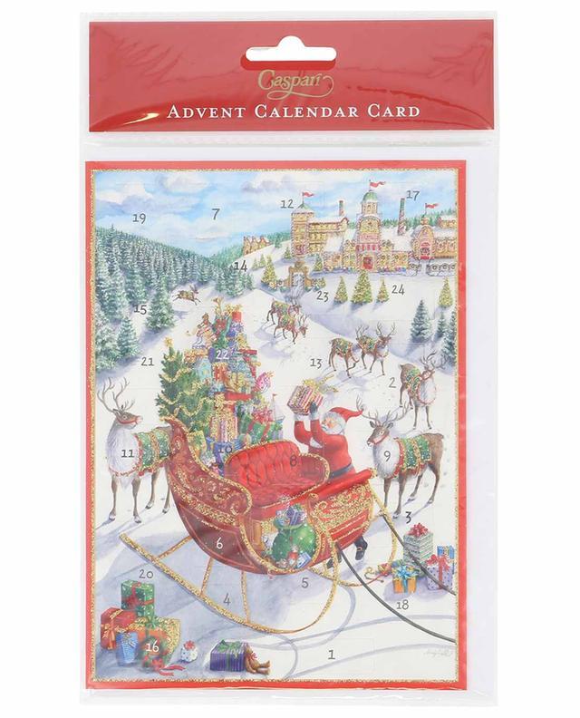 Santa's Sleigh Christmas card CASPARI