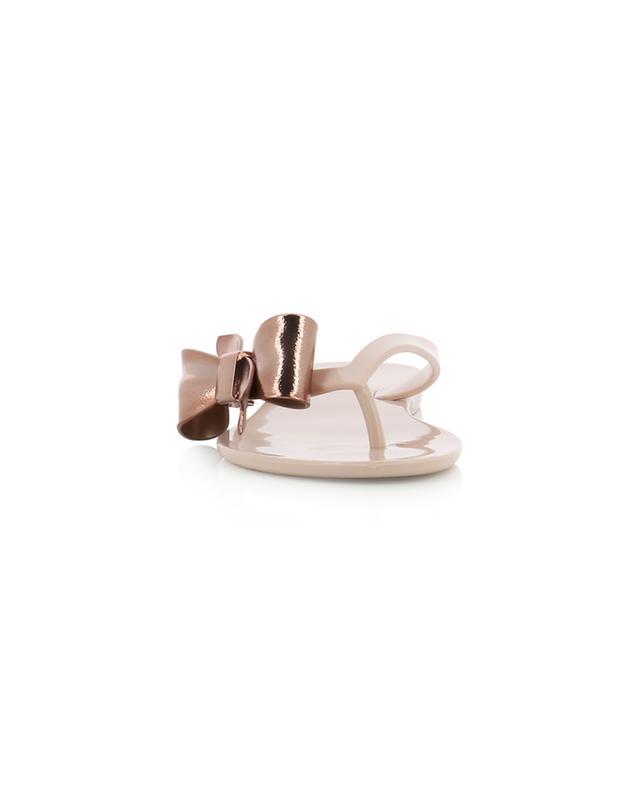 Mel Harmonic Celebration PVC flip-flops with bow MELISSA
