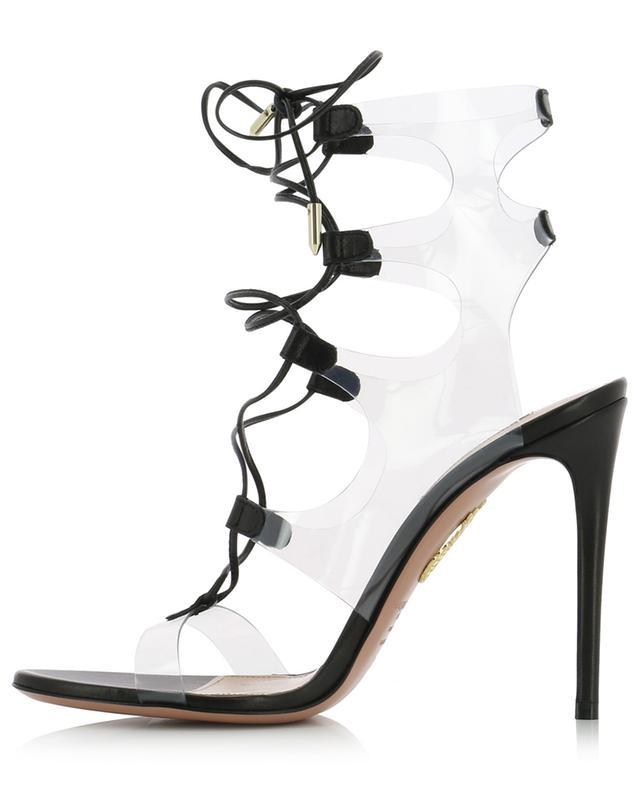 Sandales en cuir nappa et PVC Milos 105 AQUAZZURA