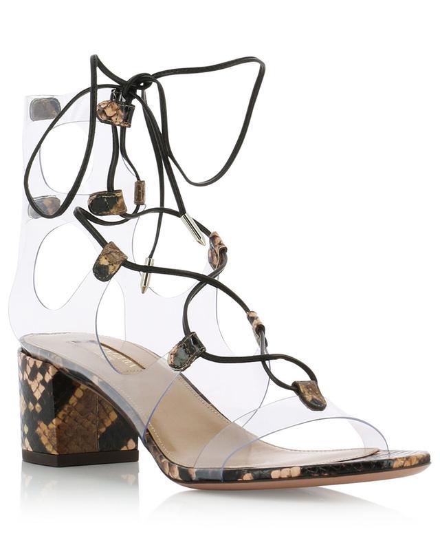Milos 50 transparent lace-up sandals AQUAZZURA