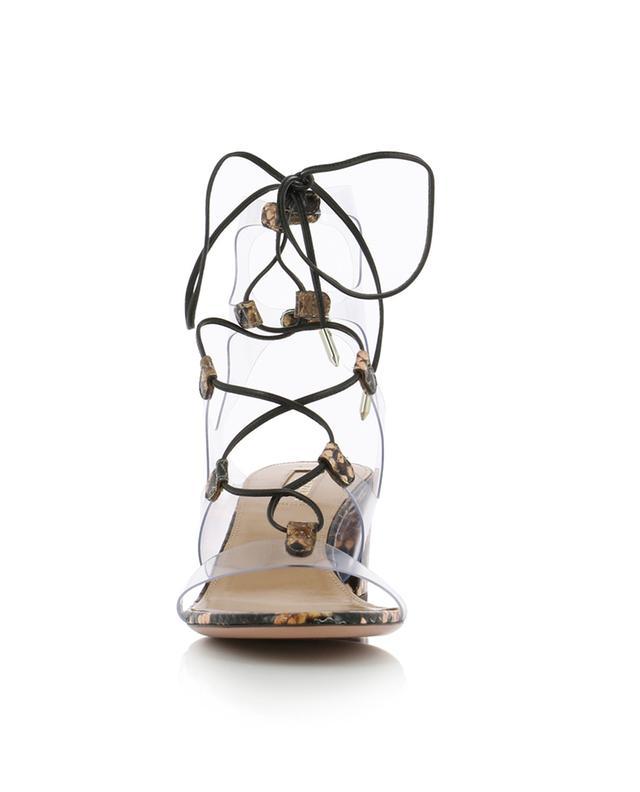 Sandales à lacer transparentes Milos 50 AQUAZZURA