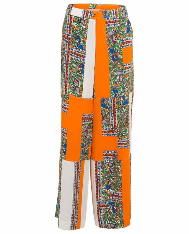 Cargo printed wide-leg silk trousers TORY BURCH