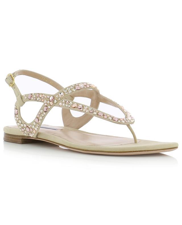 Sandales plates ornées de cristaux Allura STUART WEITZMAN