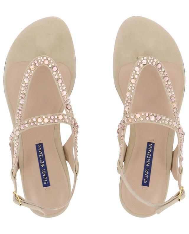 Allura flat crystal embellished sandals STUART WEITZMAN
