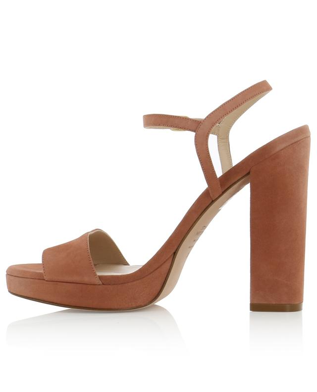 Sunray heeled suede sandals with platform STUART WEITZMAN