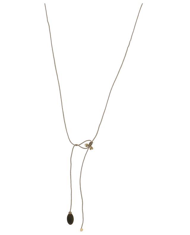 NY Tatto black spinel cord necklace BY JOHANNE
