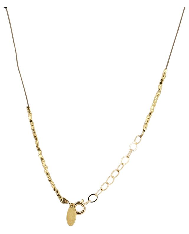 NY Tattoo short golden cord necklace BY JOHANNE