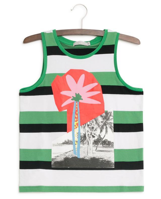 Palm Tree striped tank top STELLA MCCARTNEY