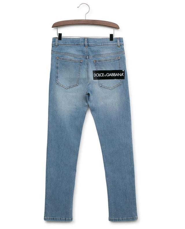 DG DNA used look slim fit jeans with logo DOLCE & GABBANA
