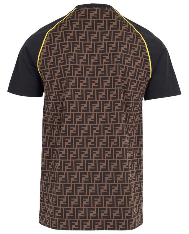 T-shirt en coton logo brodé FENDI