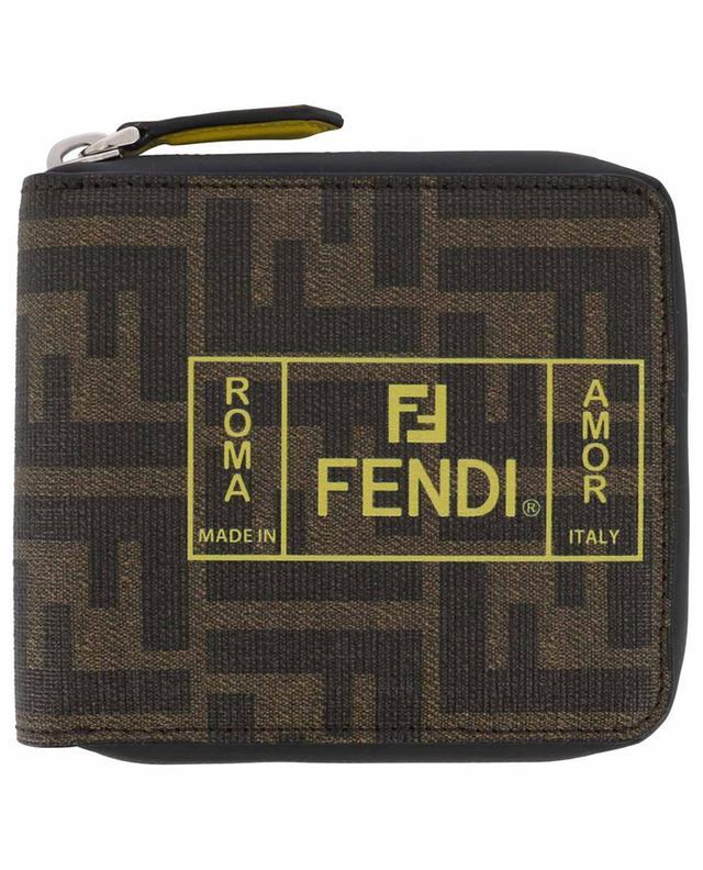 Portefeuille compact zippé Fendi Roma Amor FENDI