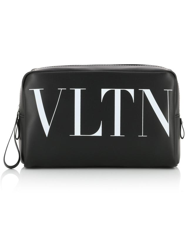 VLTN smooth leather toiletry bag VALENTINO