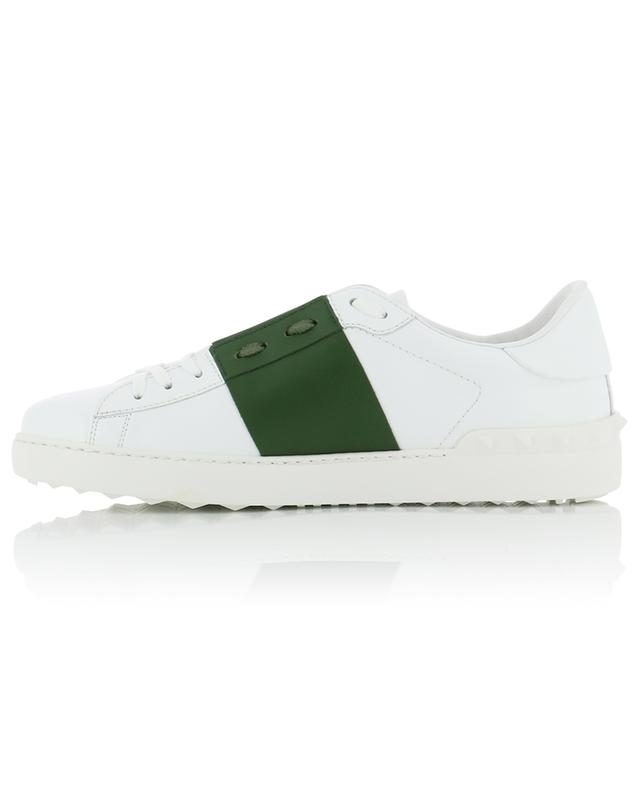 Open colourblock detail leather sneakers VALENTINO