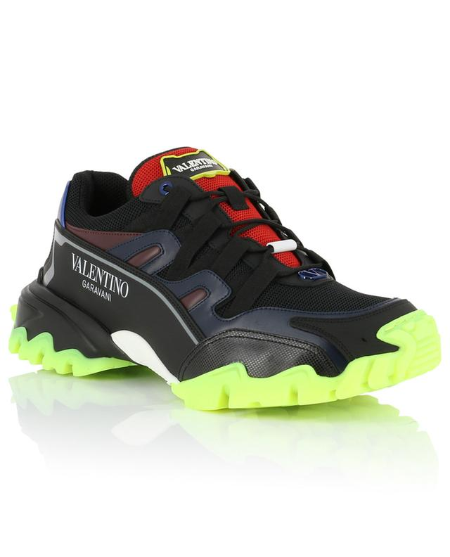 Materialmix-Sneakers mit Neon-Detail Climbers VALENTINO