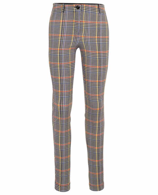 Skinny fit glen check neoprene trousers MARC CAIN
