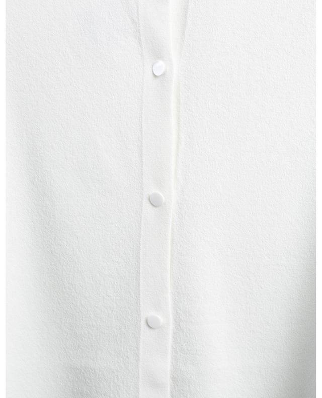 Short curved viscose cardigan AKRIS PUNTO