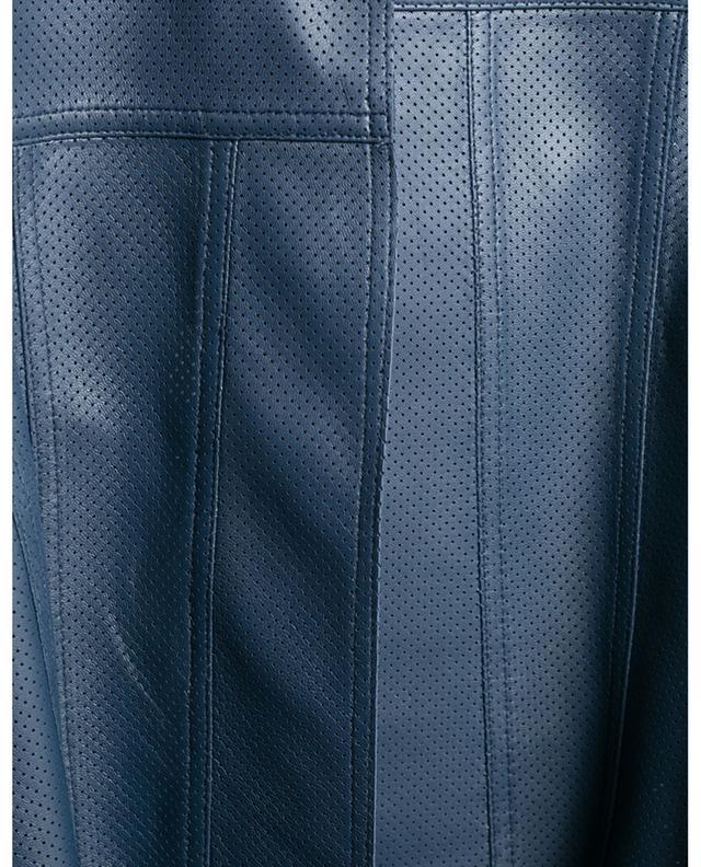 Open perforated leather jacket AKRIS PUNTO
