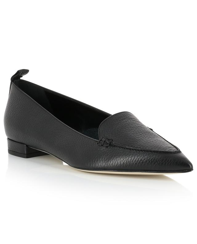 Grained leather pointy toe loafers BONGENIE GRIEDER