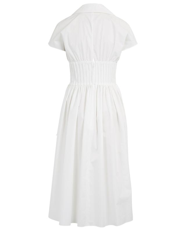 Poplin midi dress with bustier detail FENDI