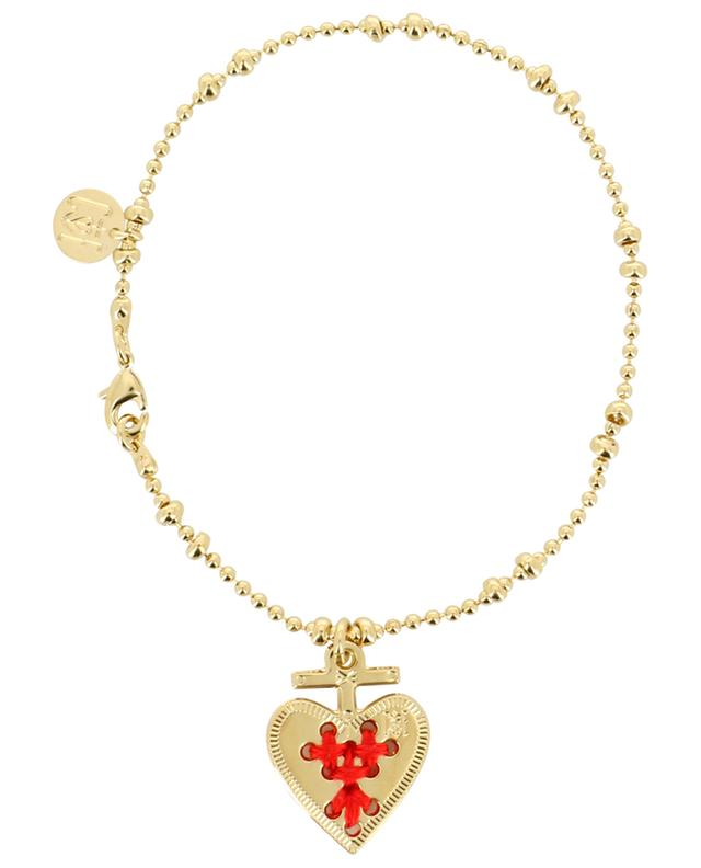 Alma embroidered heart bracelet CAMILLE ENRICO