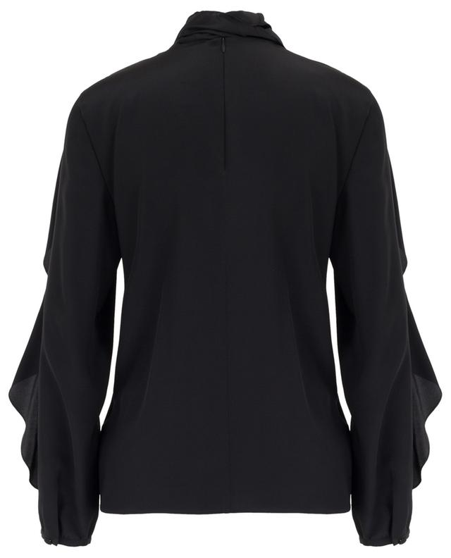 Ruffled silk blouse with necktie RED VALENTINO