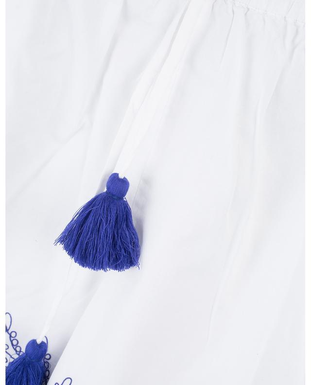 Milly Franco embroidered cotton shorts EMPORIO SIRENUSE POSITANO