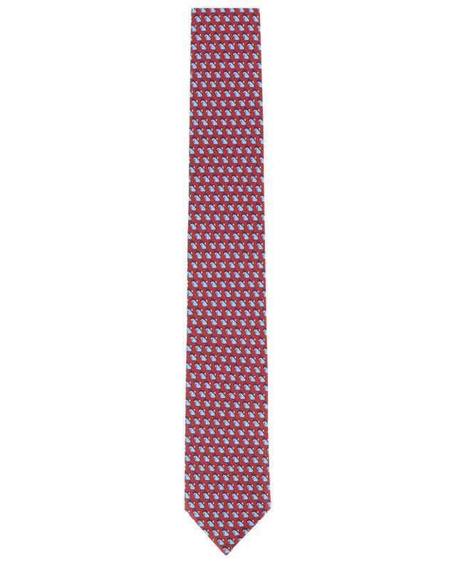 Cravate en soie imprimée ERMENEGILDO ZEGNA