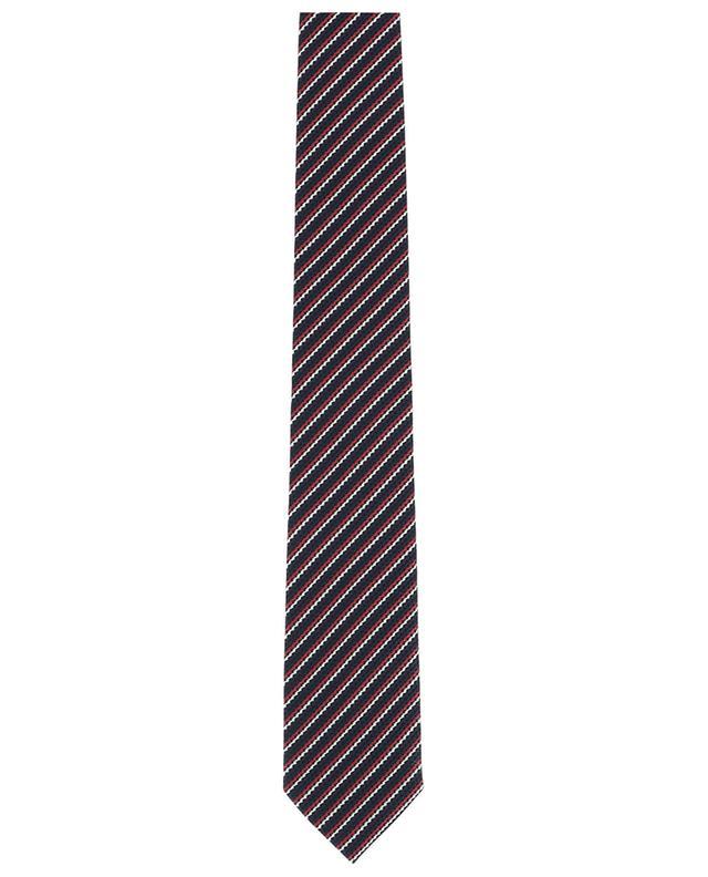 Cravate rayée en soie texturée ERMENEGILDO ZEGNA