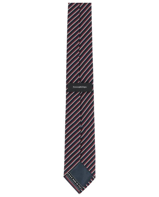 Textured silk striped tie ERMENEGILDO ZEGNA