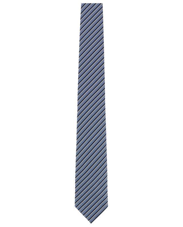 Textured silk striped tie ERMENEGILDO ZEGNA
