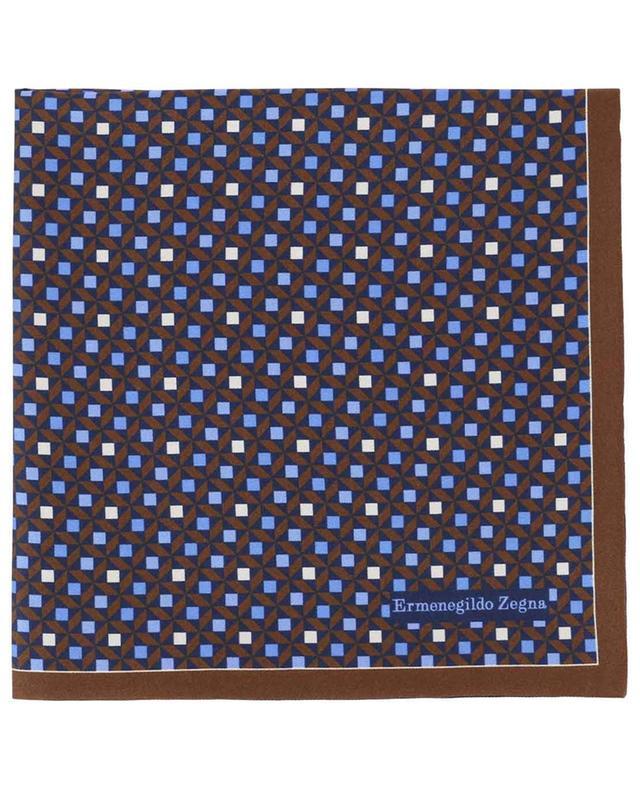 Reversible silk pocket square ERMENEGILDO ZEGNA