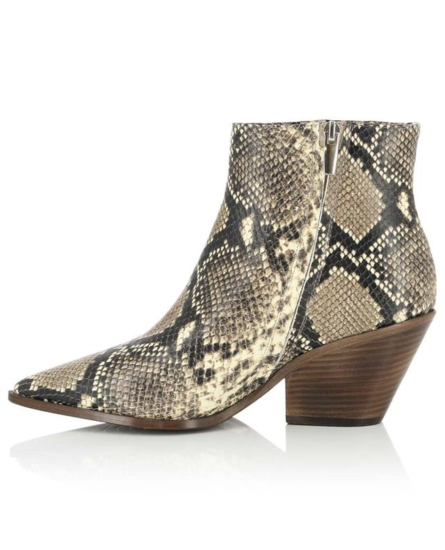Snake effect leather ankle boots BONGENIE GRIEDER