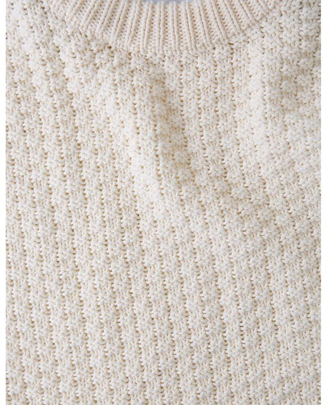 Chessboard textured cotton and linen jumper AMI