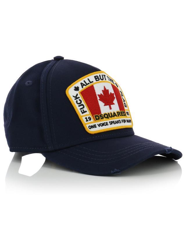 Canadian Flag distressed baseball cap DSQUARED2