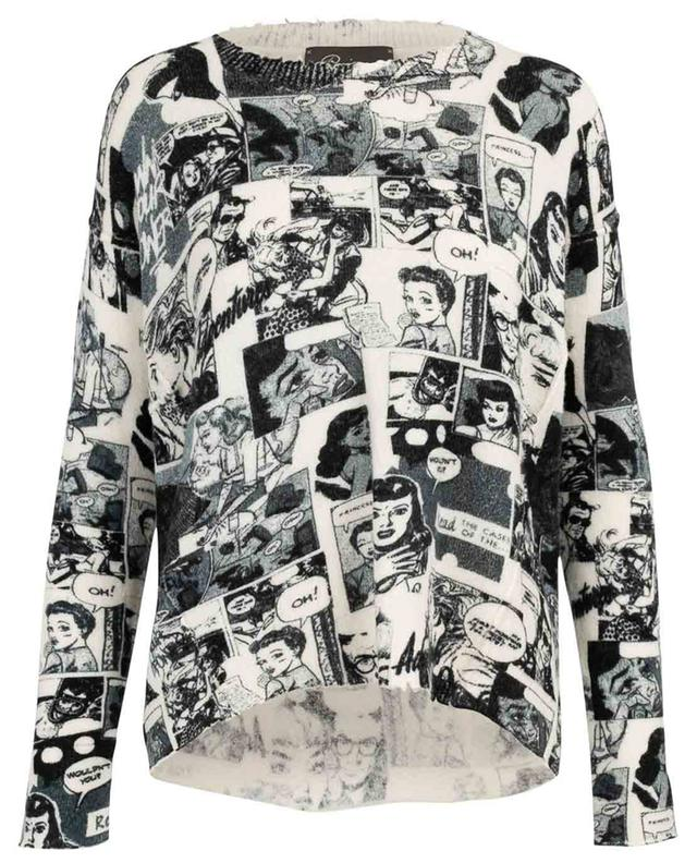 Soft comic strip print jumper PRINCESS